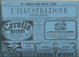 L´ILLUSTRAZIONE ITALIANA  -N° 7 DEL 18FEB. 1917-91 ^ SETT. DI GUERRA -ALL´INTERNO:LA NOSTRA GUERRA IN CARNIA - Libri, Riviste, Fumetti