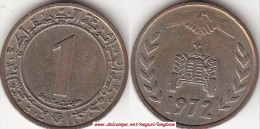 Algeria 1 Dinar 1972 F.A.O Land Reform KM#104.2 - Used - Algeria