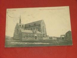 CINEY  -  L´ Eglise De L´Immaculée Conception  Et L´ Ecole Gardienne     -  1907  -  (2 Scans) - Ciney
