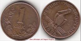 Albania 1 Lek 1996 KM#75 - Used - Albania