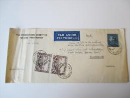 Belgien 1937 Brief Nach London. Umschlag : The International Committee For Bird Preservation - Belgien