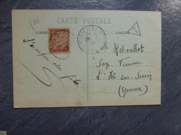 Timbre TAXE 30 C Sur CPA Dijon 1920 ;  Ref485 - Strafport