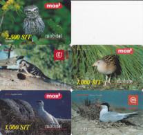 Slovénie, Série 5 Cartes Oiseaux - Birds - Slovénie