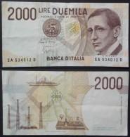 Italia Republica Italiana Banca D'Italia 2000 Lire Marconi 1990 Splendido - 2000 Lire