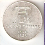 MONEDA DE PLATA DE ALEMANIA DE 5 MARK DEL AÑO 1971 ALBRECHT DURER (COIN) SILVER,ARGENT. - [ 7] 1949-… : RFA - Rep. Fed. Alemana