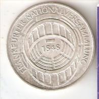 MONEDA DE PLATA DE ALEMANIA DE 5 MARK DEL AÑO 1973 FRANKFURTER (COIN) SILVER,ARGENT. - [ 7] 1949-… : RFA - Rep. Fed. Alemana