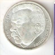 MONEDA DE PLATA DE ALEMANIA DE 5 MARK DEL AÑO 1975 FRIEDRICH EBERT (COIN) SILVER,ARGENT. - [ 7] 1949-… : RFA - Rep. Fed. Alemana