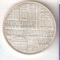 MONEDA DE PLATA DE ALEMANIA DE 5 MARK DEL AÑO 1975 EUROPAISCHES (COIN) SILVER,ARGENT. - [ 7] 1949-… : RFA - Rep. Fed. Alemana