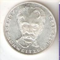MONEDA DE PLATA DE ALEMANIA DE 5 MARK DEL AÑO 1975 ALBERT SCHWEITZER (COIN) SILVER,ARGENT. - [ 7] 1949-… : RFA - Rep. Fed. Alemana