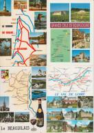 8 POSTCARDS : France  - MAPS / CARTES / KAARTEN / KARTEN - Multiviews - (3 Scans) - Landkaarten