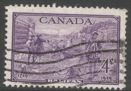 Canada. 1949 Bicentenary Of Halifax, Novia Scotia. 4c Used - 1937-1952 Reign Of George VI