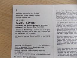 Doodsprentje Camiel Garwig Woumen 3/10/1904 - 28/4/1985 ( Madeleine Alossery En Elza Vlaminck ) - Religion & Esotérisme