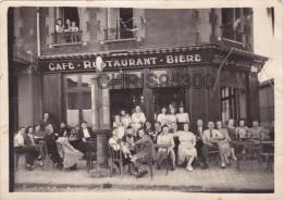 PHOTO - DEVANTURE CAFE RESTAURANT BIERE - A LA CHOPE DES EPINETTES - SHELL BORNE ESSENCE - PARIS ? REGION PARISIENNE ? - Places
