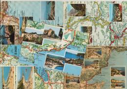5 POSTCARDS : FRANCE  - AUTO ROUTE - Carte  MICHELIN 84 - MAPS / CARTES / KAARTEN / KARTEN - (2 Scans) - Landkaarten