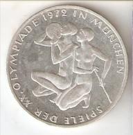 MONEDA DE PLATA DE ALEMANIA DE 10 MARK DEL AÑO 1972 LETRA J - MUNICH OLIMPIADAS (COIN) SILVER,ARGENT. - [ 7] 1949-… : RFA - Rep. Fed. Alemana