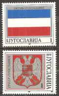 YOUGOSLAVIE - Drapeau Et Armoiries - Briefmarken