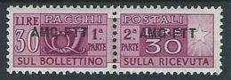1949-53 TRIESTE A PACCHI POSTALI 30 LIRE MH * - ED080-3 - Pacchi Postali/in Concessione