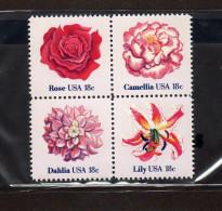 """USA  -""""Fleurs""""  Neufs** - Pflanzen Und Botanik"""