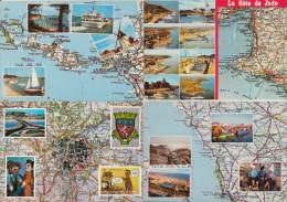 4 POSTCARDS : FRANCE  - AUTO ROUTE - Carte  MICHELIN 2x 67, 71 & 73 Et 74 - MAPS / CARTES / KAARTEN / KARTEN - (2 Scans) - Landkaarten