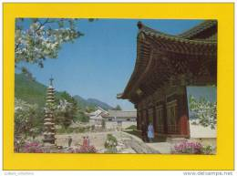 POSTCARD NORTH KOREA BOJION TEMPLE MIOJIANGSAN 1960s ARCHITECTURE ASIA - Corea Del Norte