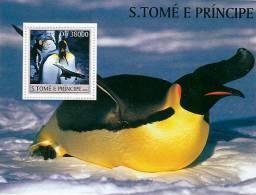 st3236 S.Tome Principe 2003 Penguin Concorde s/s Michel:2100 Scott:1485