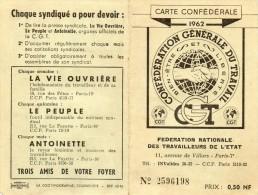 C.g.t.1962...aviation Etat Toulouse... - Alte Papiere