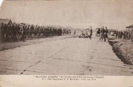 CPA Février 1919 BORDEAUX - Honneurs Militaires Au Camp De Saint-Sulpice-d'Izon, 13th Regiment U.S. Marines (A63, Ww1) - Bordeaux