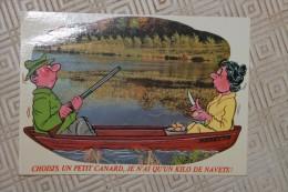 H1 -carte Humoristique - Choisis Un Petit Canard Je N'ai Qu'un Kilo De Navet - Thème Chasse - Humor