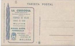 PUTP1804D-LFTD2740TPU.Espa Gne .Spain.Tarjeta Postal SEMANA SANTA DE MALAGA.publicidad. De VELAS.Muy Bonita - Publicidad