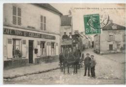 """95 - FONTENAY En PARISIS - Le Bureau De L'Omnibus - Vue Du Café Restaurant """"Collet"""" - France"""