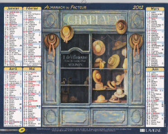 Almanach Du Facteur 2012 - Devantures De Magasins Chapellerie Fleuriste - Loire 2012 - Calendriers