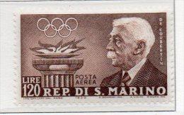 1959 San Marino - Preolimpica N. A127  Integro MNH** - Luchtpost