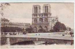 75. PARIS . NOTRE DAME ET LE PONT. ANIMATION. Editions L.L. 128. - Notre Dame De Paris
