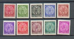 GUYA 323 - YT Taxe 22 à 31 ** - Französisch-Guayana (1886-1949)