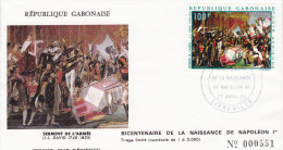 FDC GABON N° Yvert PA86 (NAPOLEON)  Obl Sp 1er Jour - Gabon (1960-...)