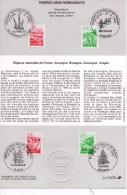 FRANCE TIMBRES REGIONS NATURELLES DE FRANCE PREMIER JOUR - Post