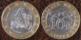 (J) MONACO: 10 Francs BIM 1992 UNC (185) - Monaco