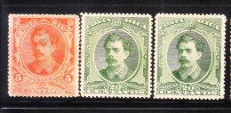 Costa Rica 1889 President Bernardo Alfano 3v Used - Costa Rica