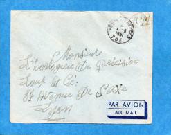 Marcophilie--lettreT O E  -pour Françe-cad- Poste Aux Armées 1951-SP 63207 - Marcophilie (Lettres)
