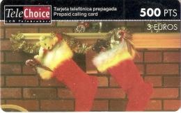TARJETA DE ESPAÑA DE TELECHOICE DE NAVIDAD (CHRISTMAS) SIN ACTIVAR - Noel