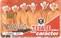 TARJETA DE MEXICO DE CERVEZA TECATE (BEER) GRUPO MUSICAL INTOCABLE - Publicidad