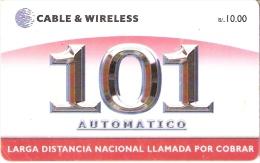 TARJETA DE PANAMA DE CABLE & WIRELESS DE 101 AUTOMATICO - Panamá