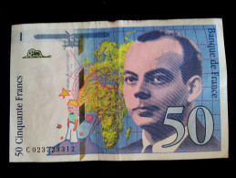 """Billet 50 Francs """"St Exupery""""  -1994 .C.023 - 1992-2000 Dernière Gamme"""