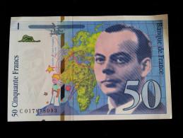 """Billet 50 Francs """"St Exupery""""  -1994 .C.017 - 1992-2000 Ultima Gama"""