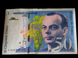 "Billet 50 Francs ""St Exupery""  -1994 .Y.023 - 1992-2000 Dernière Gamme"
