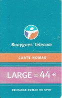 FRANCE - Bouygues Telecom Recharge Card 44 Euro, Used - Frankrijk