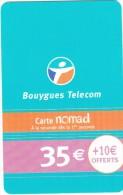FRANCE - Bouygues Telecom Recharge Card 35 Euro, Used - Frankrijk