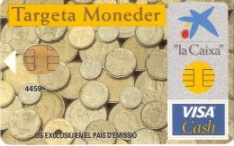 TARJETA DE ESPAÑA DE CON UNAS MONEDAS  (MONEDA-COIN) - Sellos & Monedas