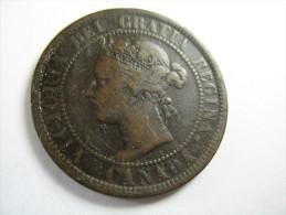 CANADA 1 ONE CENT LARGE CENT 1900  LOT 18 NUM 8 - Chypre