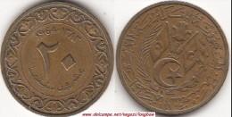 Algeria 20 Santeem 1964 KM#98 - Used - Algeria